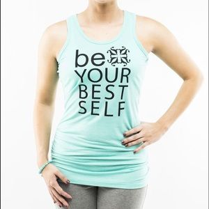 "Rustic cuff ribbed tank ""Be Your Best Self"""